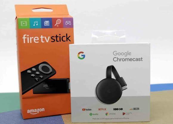 Sua tv vira smart - fire stick amazon ou chomecast 3