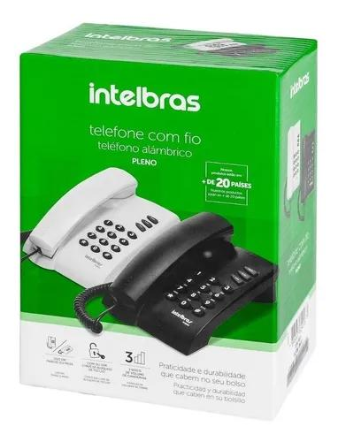 Telefone c/ fio intelbras pleno - branco