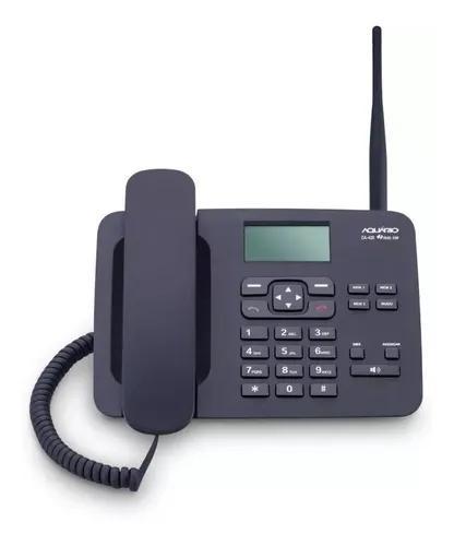 Telefone celular fixo mesa 2chip ca-42s aquário