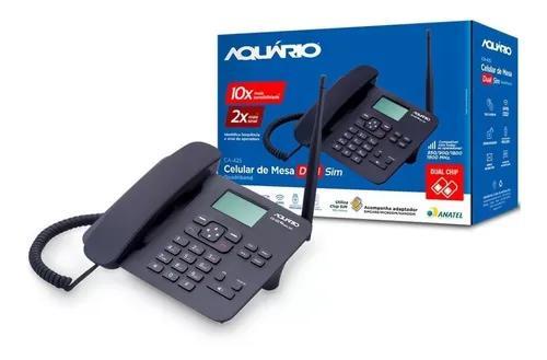 Telefone celular fixo mesa dual chip ca-42s aquario rural