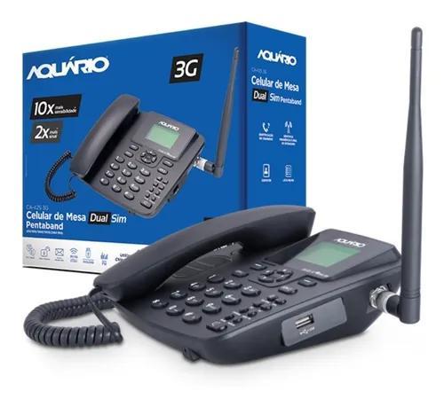 Telefone celular rural de mesa dual chip ca-42s 3g aquário