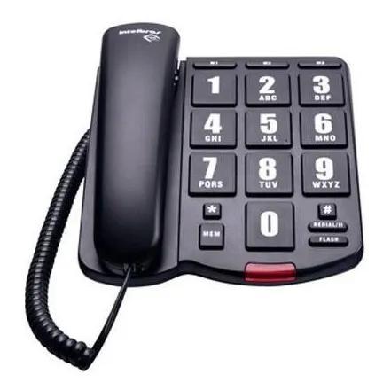 Telefone com fio com teclas grandes intelbras tok fácil