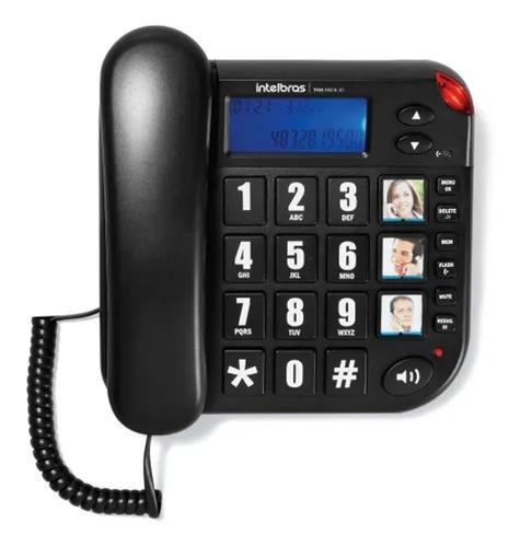 Telefone Com Fio Tok Fácil Com Id Intelbras Para Idoso