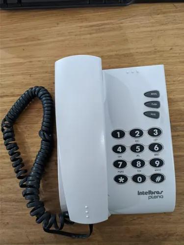 Telefone fixo c/ fio intelbras pleno cinza artico