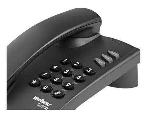 Telefone fixo com fio mesa pleno intelbras