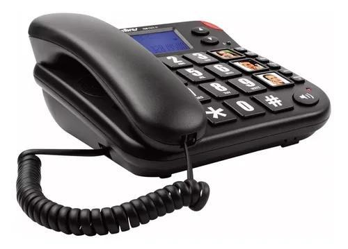 Telefone fixo de mesa com bina intelbras tok fácil id