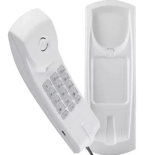 Telefone gôndola branco intelbras tc 20 slim mesa ou parede