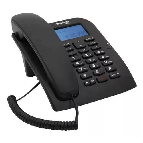 Telefone intelbras tc60 visor viva-voz identificador chamada