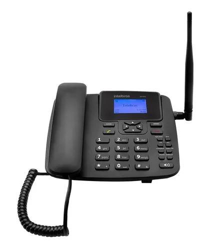 Telefone rural celular fixo de mesa cf4201 - intelbras