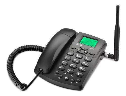 Telefone rural desbloqueado gsm 100 elgin chip celular