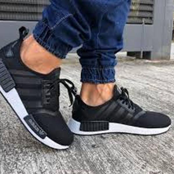 Tênis adidas nmd preto/branco 39 masculino - envio