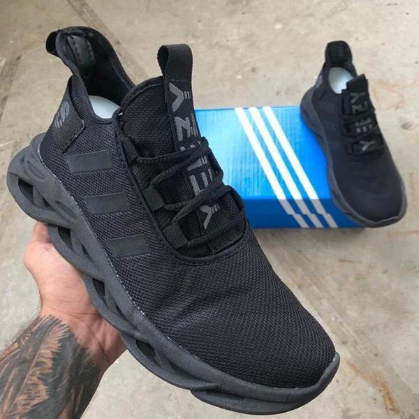 Tênis adidas yeezy maverick preto masculino - promoção