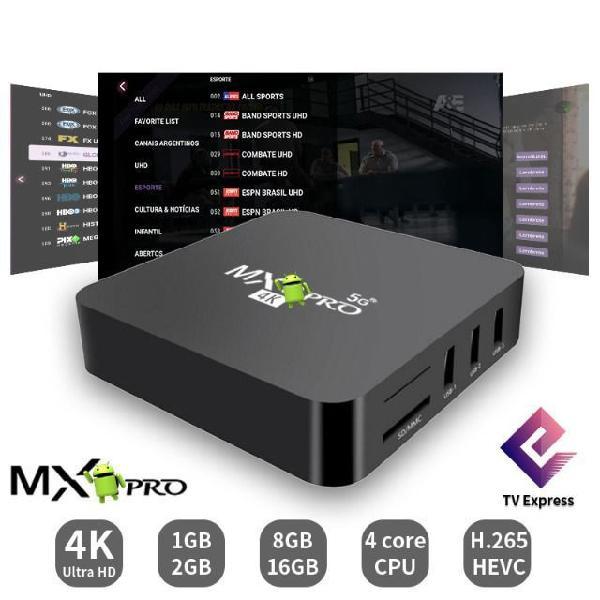 Transforme a sua tv em smart! tv box mxq pro