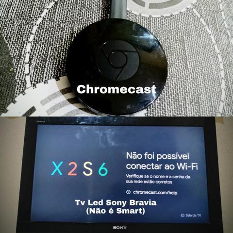 Tv led sony bravia + chromecast