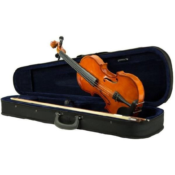 Violino tamanho 4/4 arco madeira c/ breu cavalete estojo