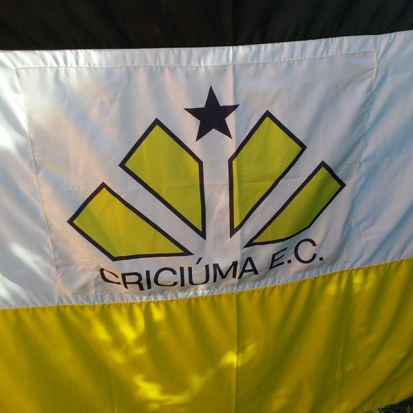 Bandeirão do criciúma esporte clube medindo: 1.50 x 2.50