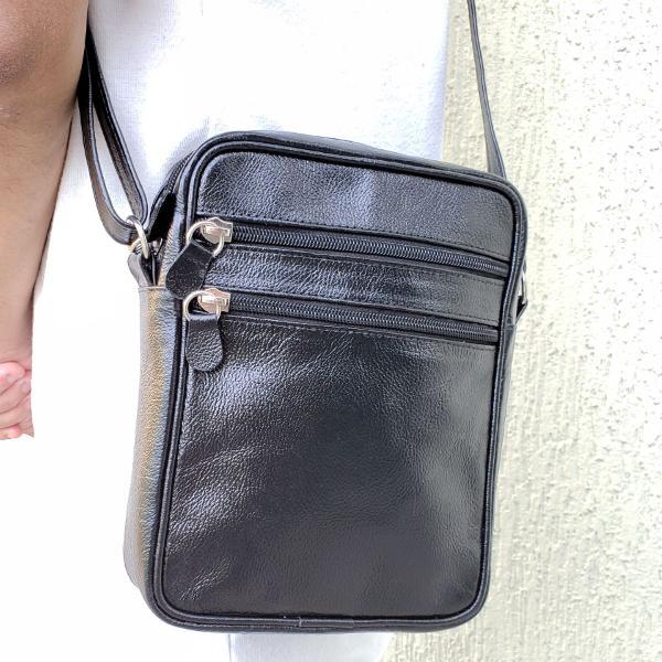 Bolsa pochete masculina de couro original top alça
