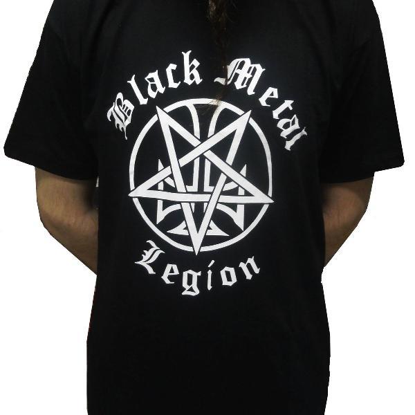 Camiseta black metal legion - p