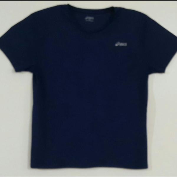 Camiseta dry fit asics original, masculina gg, azul marinho