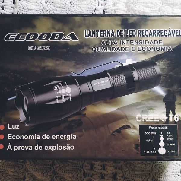 Lanterna bike, pesca, camping, com sinalizador