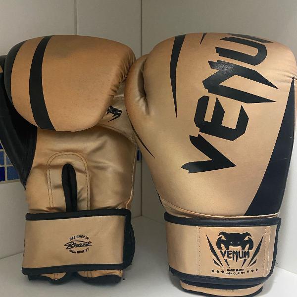 Luva boxe venum challenger 2.0 gold 14oz