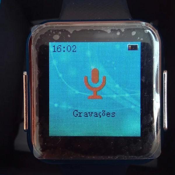 Relógio pendrive de 8gb e gravador de voz, mp3 player
