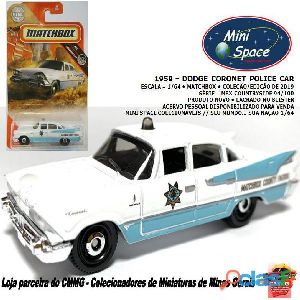 Matchbox 1959 Dodge Coronet Polícia 1/64
