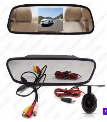 Kit sensor de estacionamento + retrovisor e camera instalado