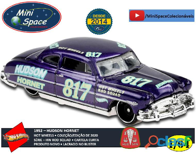 Hot Wheels 1952 Hudson Hornet cor Roxo 1/64