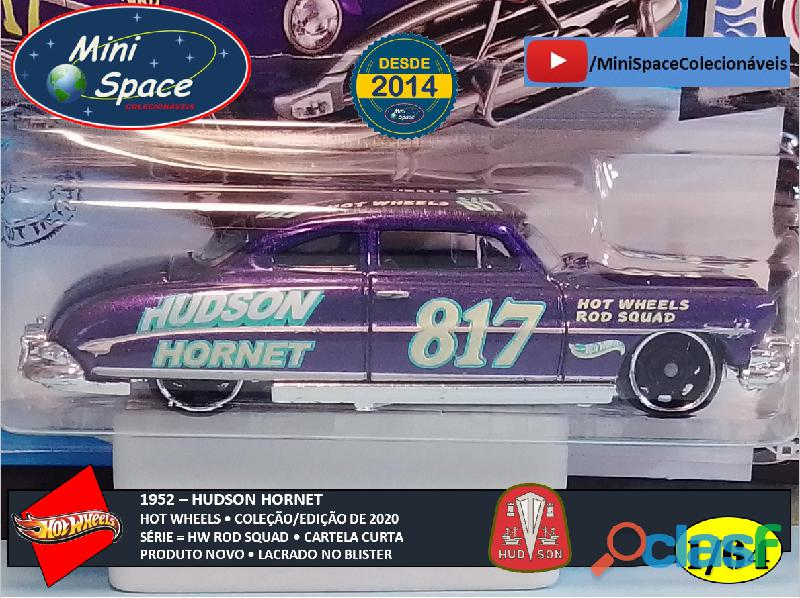 Hot Wheels 1952 Hudson Hornet cor Roxo 1/64 6