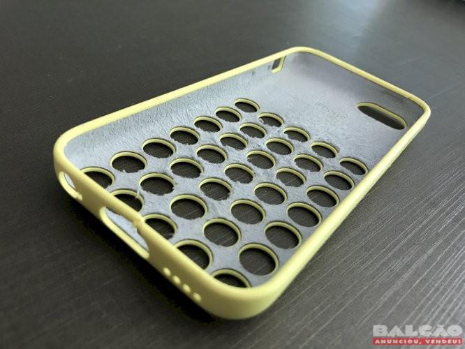 Case original apple + capas silicone + película iphone 5s,