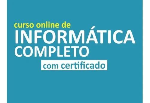 Curso completo de informática (com certificado)
