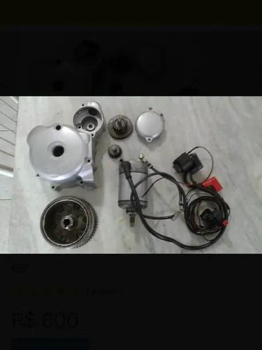 Kit partida eletrica p/ fan 125, cg, cargo, 2003-2008