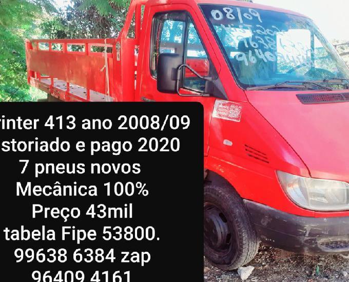 Mb sprinter ano 200809 vistoriado e pago 2020 troco por carr