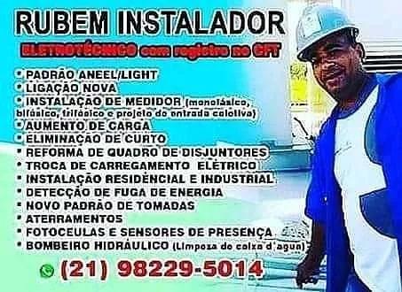 Prestador de serviços elétricos eletrotécnico bombeiro