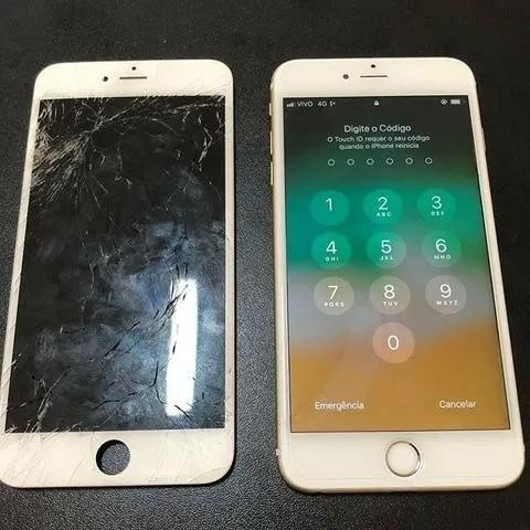 Troca de tela iphone 8 plus branco
