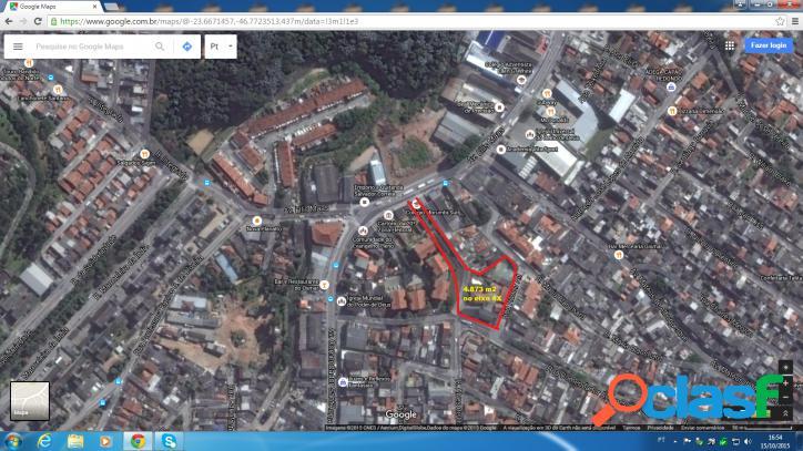 Terreno próx. metrô c. redondo com 4.873 m2 (zeup- eixo 4x) na zona sul sp