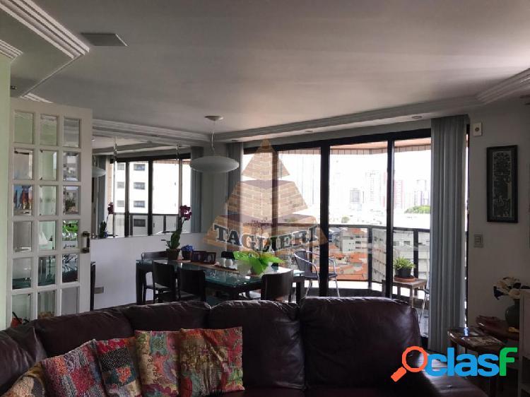 Apartamento mobiliado 172m² - tatuapé três suítes, todos com camas e armár
