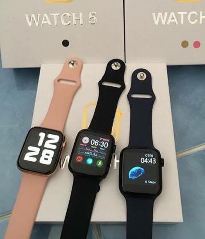 Relógio smartwatch watch 5 pro rosa