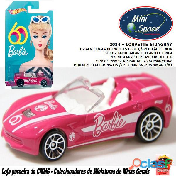 Hot wheels 2014 corvette stingray (barbie – 60 anos)1/64