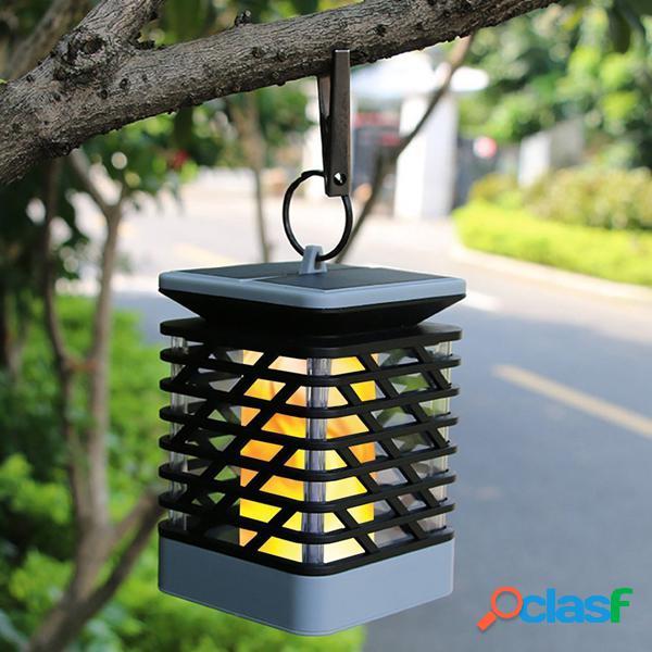 Solar powered 75 led chama efeito pendurado lanterna luz ao ar livre à prova d 'água jardim gramado árvore