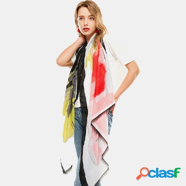 Lenço de cetim padrão cachecol lenço multifuncional fino lenço étnico multicolor