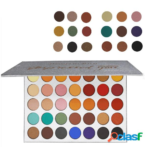 Beauty glazed paleta de sombra 35 cores cor brilhante