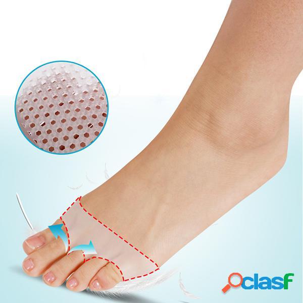 Tipo de luva sapatos de salto alto selas silicone pés respiráveis meios soles pad anti dor cuidados com os pés