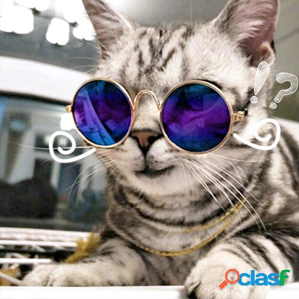 Óculos de moda pet gato puppy brinquedo óculos óculos de sol para cães acessórios para animais de estimação