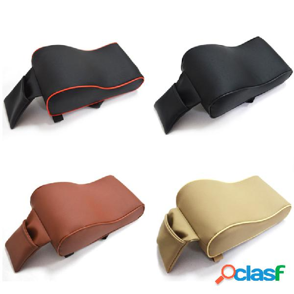 Universal pu leather car armrest pad memória espuma universal auto armrests covers with phone pocket