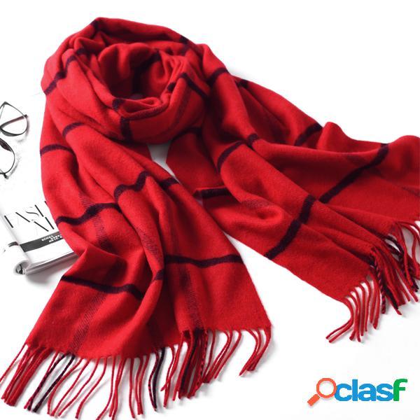 Lyza 200cm inverno, macio, quente, cachecol, lenço, elegante, moda, grande, grade, xale, cachecol, para mulheres
