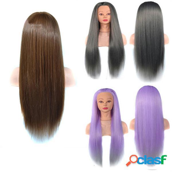 Modelo de prática de salão fibra de alta temperatura com treinamento de cabeleireira