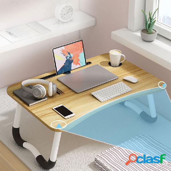 Cama mesa pequena mesa dobrável preguiçoso simples mesa quarto laptop mesa mesa assento
