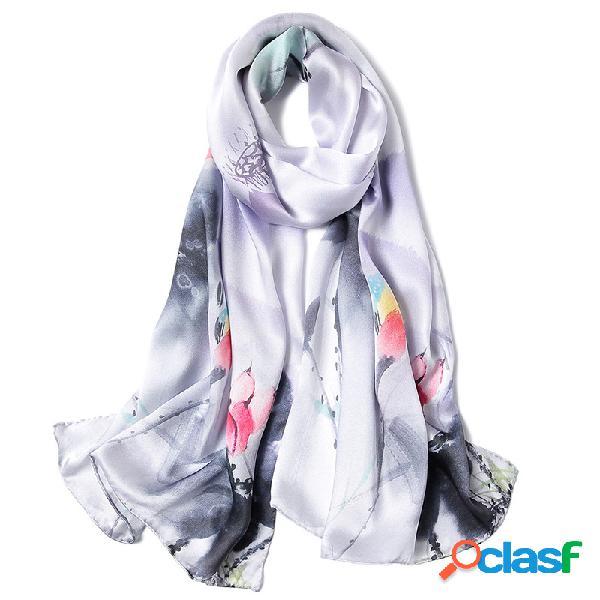 Mulheres inverno quente retro nação lenços ao ar livre casual à prova de vento pescoço cachecol quente